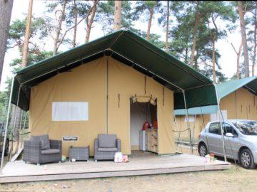Overnachten in een safaritent op Camping Haddorfer Seen